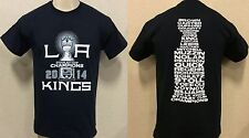 LA KINGS 2014 STANLEY CUP CHAMPIONS T-SHIRT 2 SIDE ROSTER