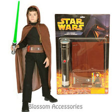 CK309 Star Wars Jedi Knight  Kids Boys Costume Mask Cloak Lightsaber Set Kit