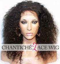 6A Kinky Curly Remy Human Hair Lace Front Wigs Brazilian Glueless Full Lace Wigs