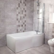 P Shaped Shower Bath Bathroom Right Hand 1675 Hinged Shower Screen & Panel Inc
