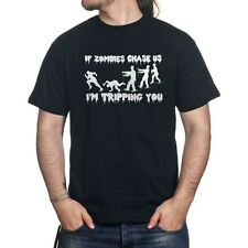 If Zombies Chase Us I'm Tripping You Funny Walking Dead T-shirt R17