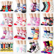 choice!! HELLO KITTY DORAEMON CHARACTER SOCKS  MADE IN KOREA women boy girl us