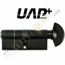 UAP High Security Kitemarked Thumb TURN NERO EURO CILINDRO PORTA LUCCHETTO