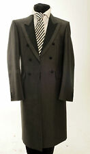 MJ-87 MENS WILVORST SILVER WOOL/MOHAIR WEDDING FORMAL DRESS FROCK COAT