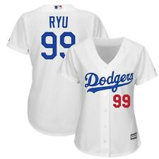 2015 Hyun Jin Ryu Los Angeles Dodgers Home (White) Cool Base Jersey Women's