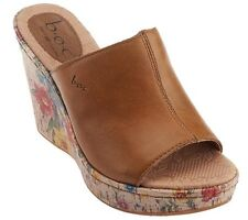 B.O.C by Born Dianna Leather Wedge Sandals Floral Detail PICK SIZE & COLOR NEW