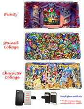 Disney Characters Stained glass leather phone case Samsung S3,S4,S5, Mini, Note