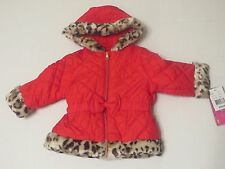 NWT Baby Girls Amy Byer Quilted Bow Jacket Winter Coat SZ 18 Months