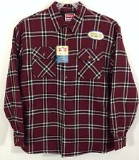 NWT Wrangler Flannel Quilt Lined Work Shirt Jacket Red/Maroon