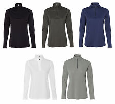 All Sport - Ladies' Quarter-Zip Lightweight Pullover, Moisture wicking (W3006)