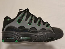 New in Box MEN'S OSIRIS D3 2001 Black/Charcoal/Green Skate Shoes