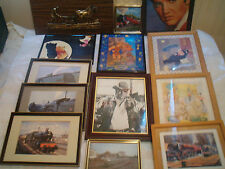 FRAMED PICTURES   ELVIS, TRAINS, POOH BEAR  click on the site to chose and order