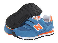 NWT New Balance Kids KV574 Sneakers Shoes Boots Blue/Orange Boy 10.5 11