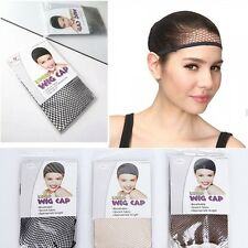 Full Head Wig Cap,For Lady/Men,Black Blond Brown,Breathable Fish Net Wig USPS L2