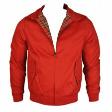 Warrior Mens Harrington Jacket Coat Mod Tartan Check Red S, M, L, XL, XXL, XXXL