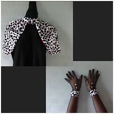 Cruella de ville costume child's or adult's fancy dress shaw cape and cuffs