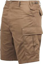 Mens Coyote Brown Military BDU Cargo Shorts