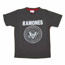 Amplified Childrens Ramones Rock T Shirt NEW Charcoal