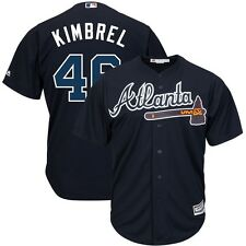 2015 Craig Kimbrel Atlanta Braves Alternate Navy Blue Cool Base Jersey Men's