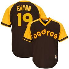 Tony Gwynn 1980 San Diego Padres Cooperstown Brown Cool Base Jersey Men's