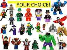 LEGO SUPER HEROES MINIFIGURES YOUR CHOICE BATGIRL ROBIN HULK DC UNIVERSE MARVEL
