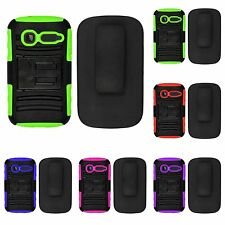 Alcatel One Touch Pop C1 4015T AT&T GoPhone ARMOR Cover Case Tuff HOLSTER CLIP