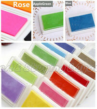 1x Child DIY Craft Oil Based Ink Pad Rubber Stamps Wood Paper Scrapbook IC9