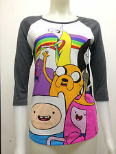 Official Adventure Time 3/4 Sleeve Shirt Marceline Flame Princess Bubblegum