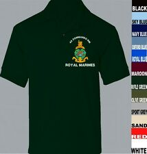 42 COMMANDO ROYAL MARINES COMMANDO SHORT LONG SLEEVE POLO SHIRT TO 5XL