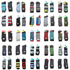 Men's Cotton Blend Socks – 25 Designs (6 Pack)