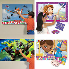 DISNEY CHILDREN PARTY GAMES TRADITIONAL PIN THE TAIL GIRLS BOYS PIRATE PRINCESS