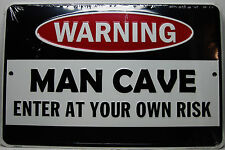 Made in the USA Medal Signs: Warning Man Cave Signs! 2 To Choose from!