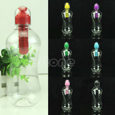 550ML Outdoor Water Bobble Hydration Filter Bottle Hiking Gym Filtered Drinking
