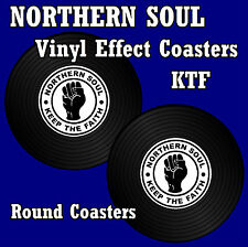 NORTHERN SOUL (KTF RECORD VINYL EFFECT) - SETS OF 4, 6 OR 8 - GIFT/ EASY CLEAN