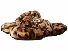 Michael Kors Womens Jet Set MK Fur Slip-On Thong Comfort House Shoes Sandals