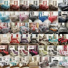 Duvet Cover with Pillow Case Quilt Cover Bedding Set Single Double King