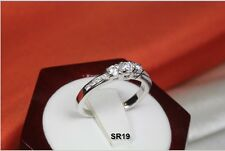 ROUND CUT 0.51 CT 3 STONE 925 STERLING SILVER ENGAGEMENT WEDDING RING SR-19-MS