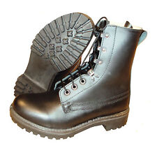 Black Leather ASSAULT BOOTS - British Army - Genuine Issue - Brand NEW