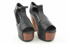 p15 Jeffrey Campbell scarpe shoes donna mary jane FOXY WOOD F0158