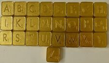 Franklin Mint Gold Plated Scrabble Tiles  Sold Separately- Pick Your Letter