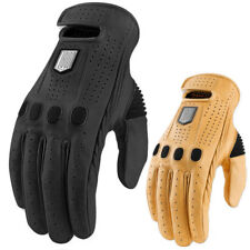 2015 Icon 1000 Prep Mens Leather Motorcycle Riding Street Glove