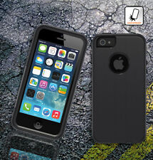 SHOCKPROOF RUGGED COMMUTER CASE COVER FOR APPLE iPHONE 5 5S W/ SCREEN PROTECTOR
