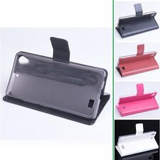 4Colors Stand PU Leather Wallet card Case Cover For Kazam Tornado 348 Smartphone