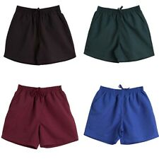 NEW KIDS BOYS GIRLS SCHOOL SHORTS UNIFORM SHORT DRAW STRING CAMP TEAM FOOTBALL