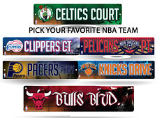 """NBA Teams - Officially Licensed 16"""" Basketball Street Sign Man Cave Wall Decor"""