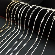 Lots sale 10 style Fashion Jewelry 925 Sterling Silver Chain/Necklace 16''-30''