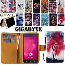 New Folio Leather Stand Card Wallet Cover Case Fit GIGABYTE GSmart Nexus Phones