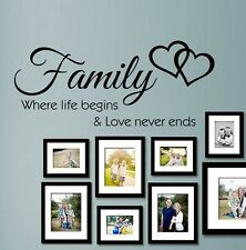 **Family Inspirational Wall Art - Wall Quote Sticker - Art Decor kit4