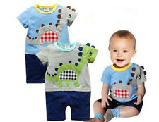 Baby Rompers Boys Sleep Suit Cartoon Dinosaur Jumpsuits NewBorn