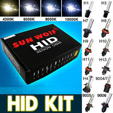 55W Sunwoif HID Xenon Headlight Conversion KIT H1 H3 H4 H7 H11 9005 9006 9004/7